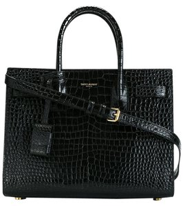 Saint Laurent Ysl Baby Sac Sac De Jour Croc Cross Body Bag