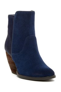 Very Volatile Pony Hair Suede Wedge Stacked Heel Boots