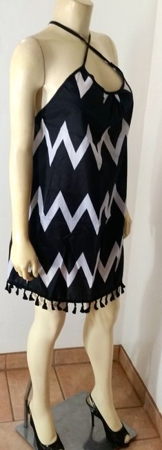 Other short dress Black, white P2276 Swimsuit Cover Size Small on Tradesy