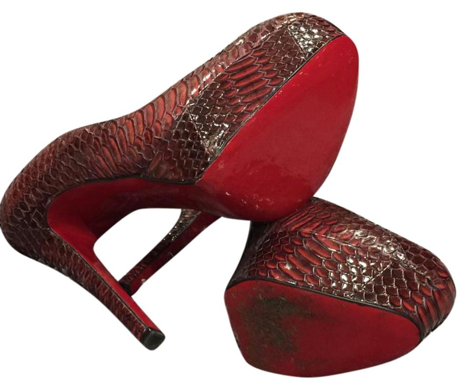 Red Sole Protector Platforms