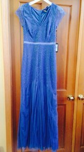 Adrianna Papell STEEL BLUE 091885900 Dress