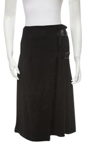 Burberry Designer Skirt Black