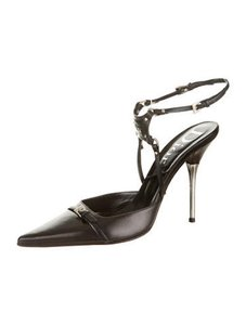 Dior Christian Designer Black & Silver Pumps