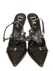 Dior Christian Designer Made In Italy Black & Silver Pumps