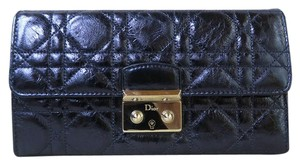 Dior Wallet Cannage navy Clutch