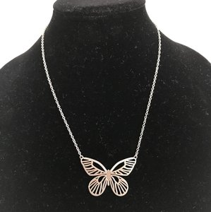 Fossil Nwt Fossil Butterfly Stainless Steel Pendant Necklace 21""