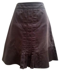 FEI A-line Pleated Mini Skirt Brown