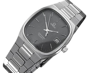 Omega 1980 Omega Seamaster Classic Vintage Mens Gray Dial Quartz Watch, Date