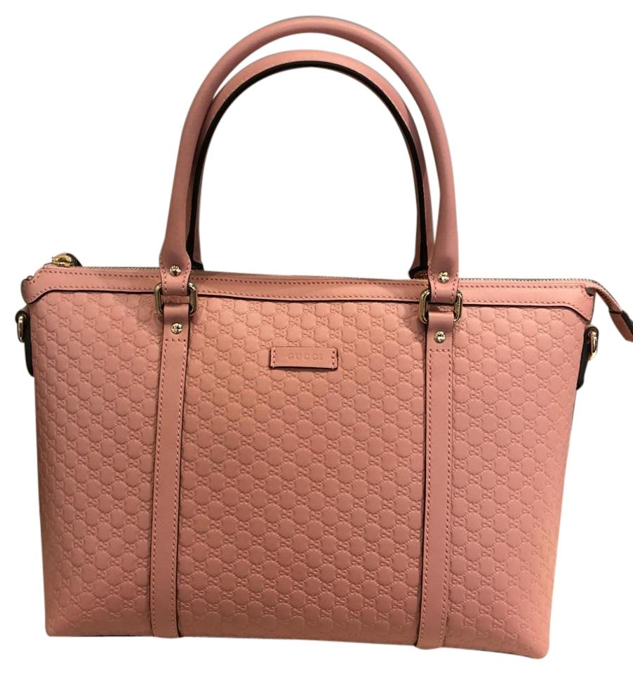 bc4ccdbe020 Gucci Gg Leather Pink Satchel - Tradesy