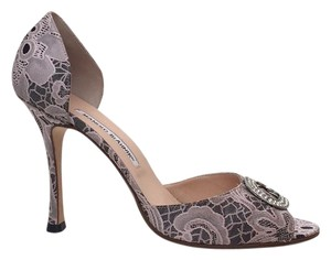 Manolo Blahnik Black & pink Formal