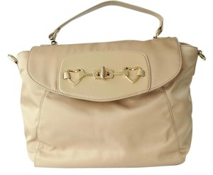 Moschino Satchel in Beige