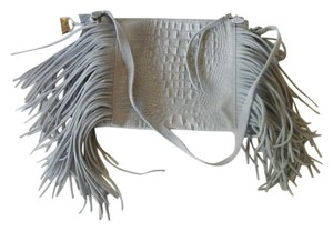 Borse In Pelle Alles Leather Fringe Reptile Embossed Cross Body Bag