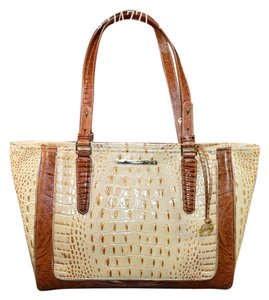 Brahmin Shoppers Medium Arno Tote in Champagne Moscato