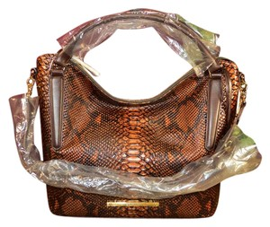Brahmin Nora Seville Python Shoulder Bag
