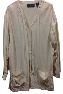 August Silk Button Down Shirt soft yellow