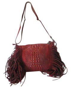 Borse In Pelle Alles Reptile Leather Fringe Cross Body Bag