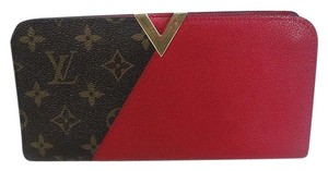 Louis Vuitton Louis Vuitton Kimono Red Cherry Leather Monogram Clutch Wallet