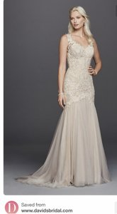 Vera Wang Bridal Vera Wang White Beaded Vanice Lace Dress Wedding Dress