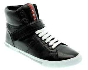 Prada Hi Top Sneakers Black Athletic