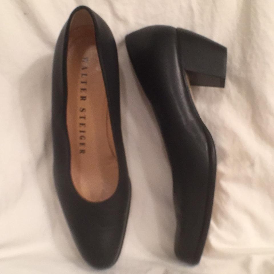 Walter Steiger Leather Navy Blue Classic Leather Steiger Comfortable 1/2 Pumps cdf03a