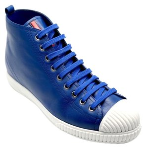 Prada Hi Top Sneakers Bluette Athletic