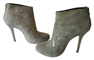 Giambattista Valli Suede Leather Patent Leather Grey Boots