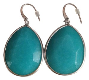 Fossil Nwt Fossil Blue Semi Precious Stone Drop Dangle Earrings