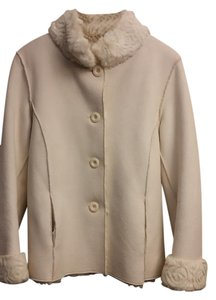 Coldwater Creek Winter Fall Faux Fur Soft Fur Coat
