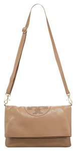 Tory Burch Kipp Perforated Logo Foldover Messenger Crossbody Shoulder Bag