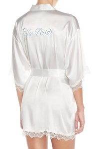 In Bloom By Jonquil 'the Bride' Short Satin Robe