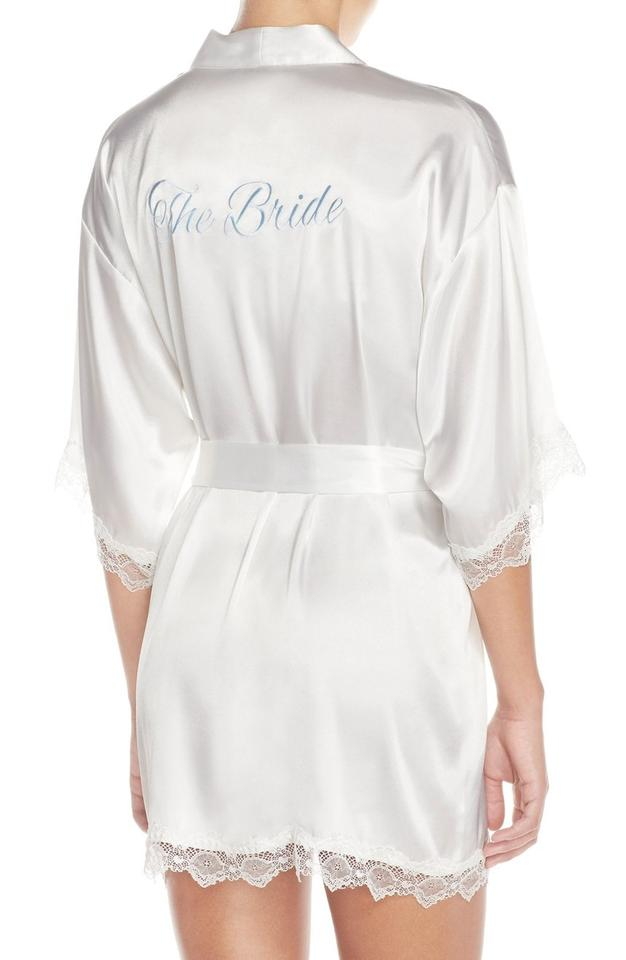 088a5dd4ae8 White In Bloom By Jonquil  the Bride  Short Satin Robe Image 0 ...
