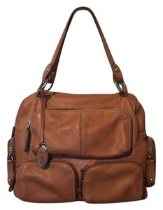 Tod's Leather Pockets Shoulder Satchel in Tan