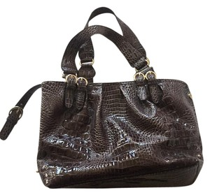 Jessica Simpson Zipper Vintage Velvet Tote in Brown