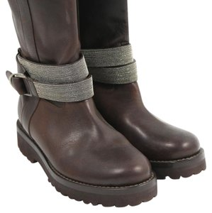 Brunello Cucinelli Leather Brown Boots