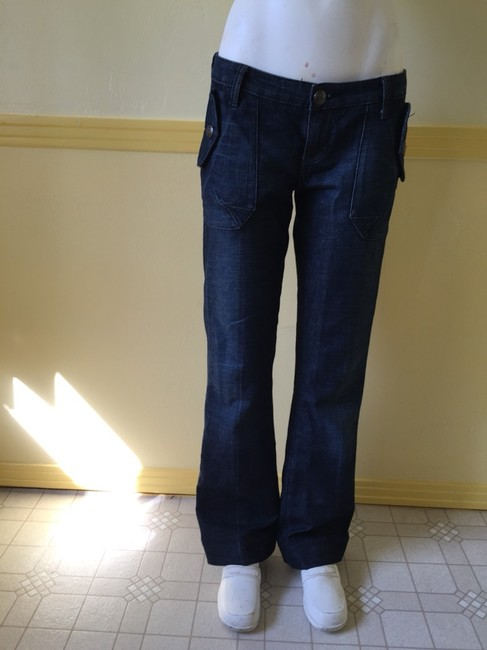 7 For All Mankind Flare Leg Jeans-Dark Rinse