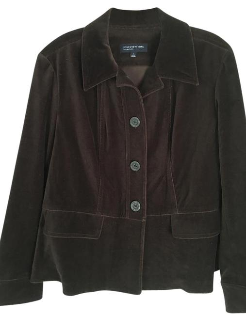 Preload https://item1.tradesy.com/images/jones-new-york-brown-of-tailored-blazer-night-out-top-size-14-l-20005515-0-5.jpg?width=400&height=650