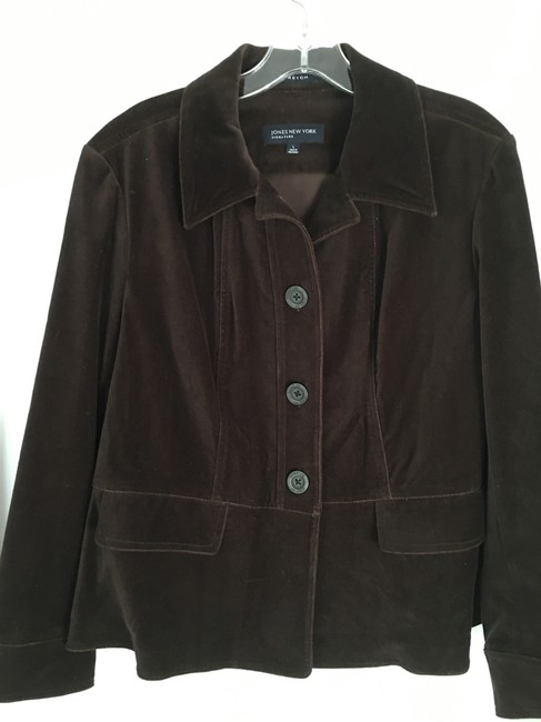 Jones New York High Quality Excellent Quality Like 2 Pockets 3 Button Front Top BROWN