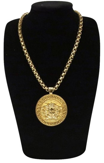 Versace Versace Gianni Collection BIG Medusa Gold Dipped Medallion Necklace