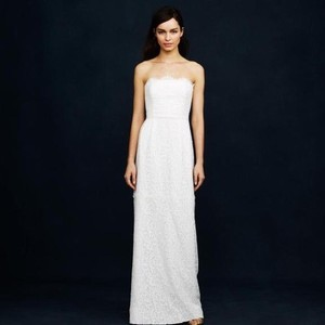 J.Crew Ivory Lace Feminine Wedding Dress Size 4 (S)