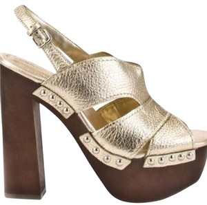 BCBGeneration Gold and brown Platforms
