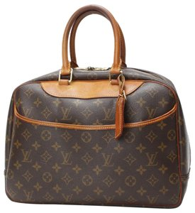 Louis Vuitton Leather Monogram Vintage Luxury Deauville Satchel