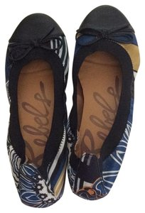 rebels Black, navy bluegold, grey and white Flats