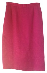 Adrianna Papell Silk Skirt hot pink