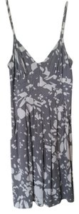 American Eagle Outfitters short dress Gray and White Floral Summer on Tradesy