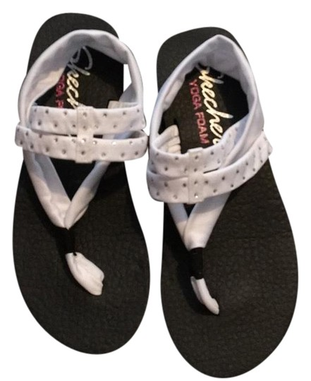 Skechers White Sandals