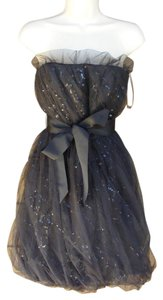 White by Vera Wang Netting Sequins Party Sparkle Lbd Dress