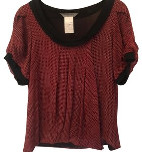 Sportmax Silk Pleated Top Red and blue
