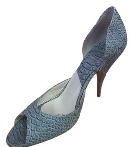 Dior Classy Snakeskin Blue gray Pumps