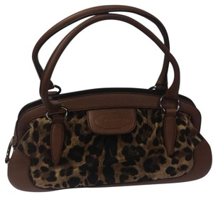 Dolce&Gabbana Dolce&gabana Tote in Leopard Print with Tan Leather