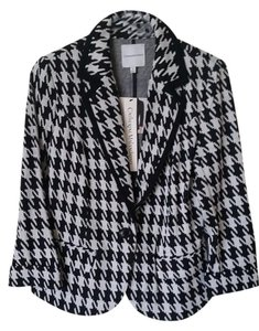 Catherine Malandrino Houndstooth Fall Black and White Blazer